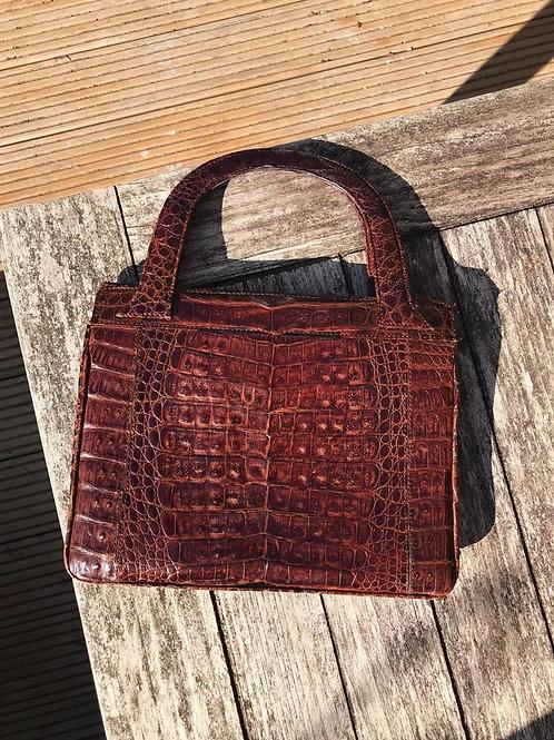 Vintage crocodile skin imitation purse