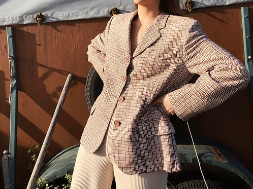 100% Silk Italian handmade blazer