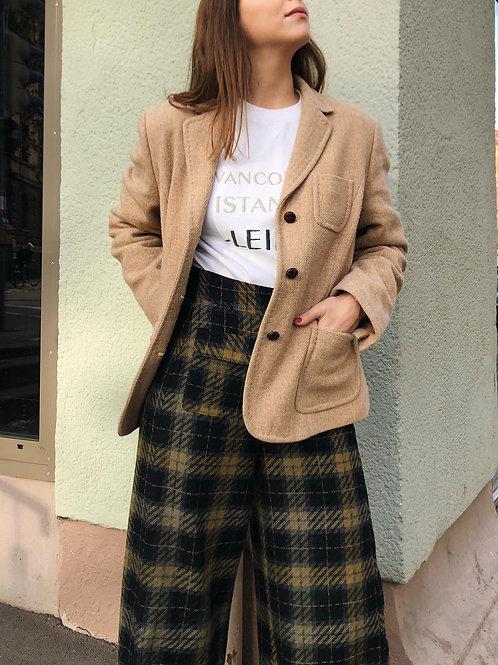 Wool blazer with patch pockets