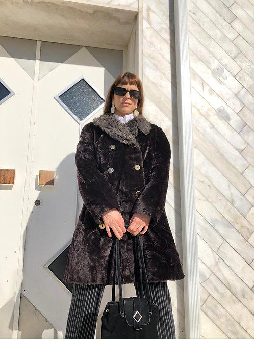 Vintage faux-fur coat
