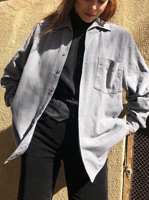 Cotton herringbone men's shirt