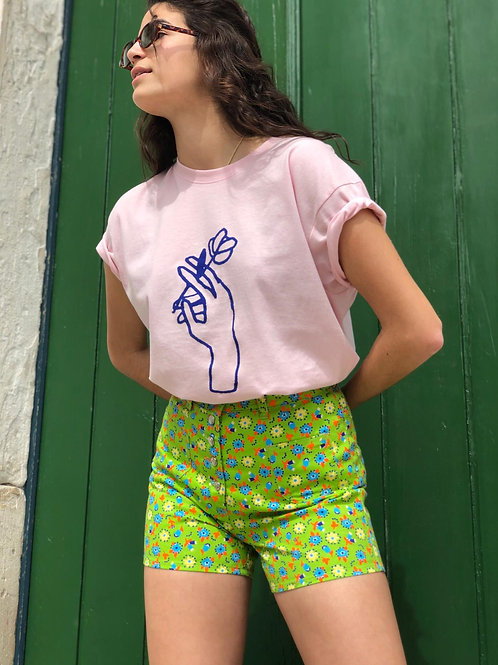 Vintage flower print shorts