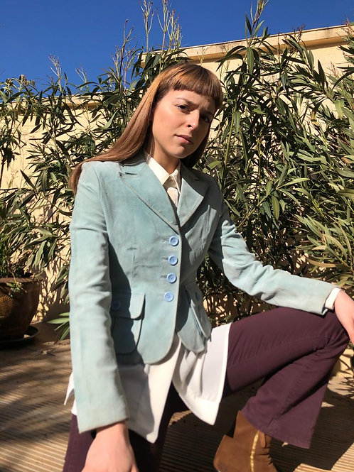 Light turquoise suede jacket