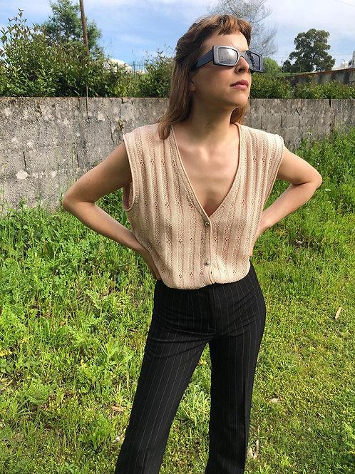 Sleeveless vintage knit