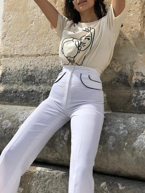Classic vintage sailor style pants
