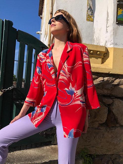 Vintage print jacket/blouse