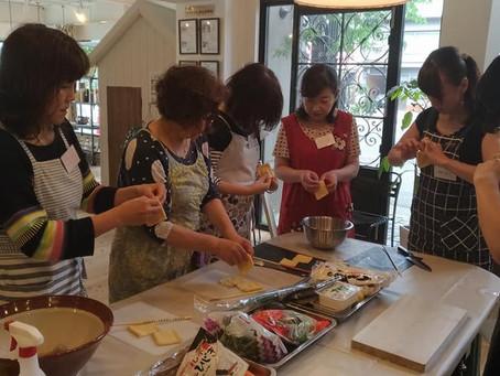 【ベジッポキッチン】すり鉢で作る 豆腐ごまだれうどんと五目いなり寿司