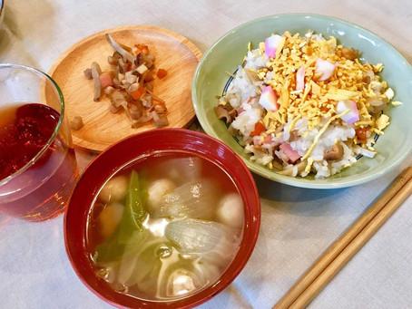 【ベジッポキッチン便り】~地域伝統的の簡単バラ寿司と野菜のおすまし~