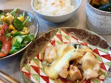 【ベジッポキッチン】7月は大葉とチーズのチキングリルと すり鉢サラダ!