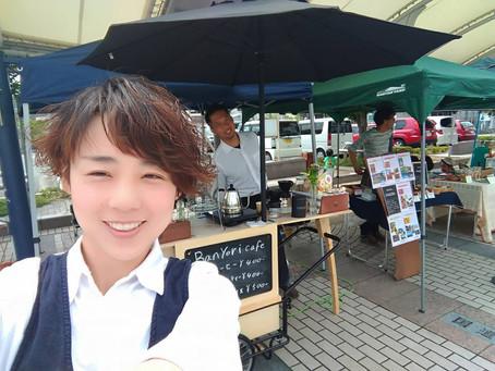 井原の駅前で もくようびマルシェ【モクマル】に  BANYORI × VEGPPOで出店中!