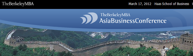 Seth R. Freeman speaker at UC Berkeley Haas MBA Asia Business Conference May 2012