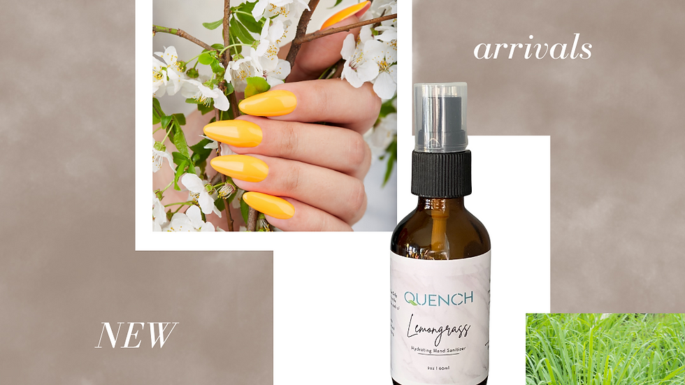 Quench Hydrating Hand Sanitizer Spray (Lemongrass)