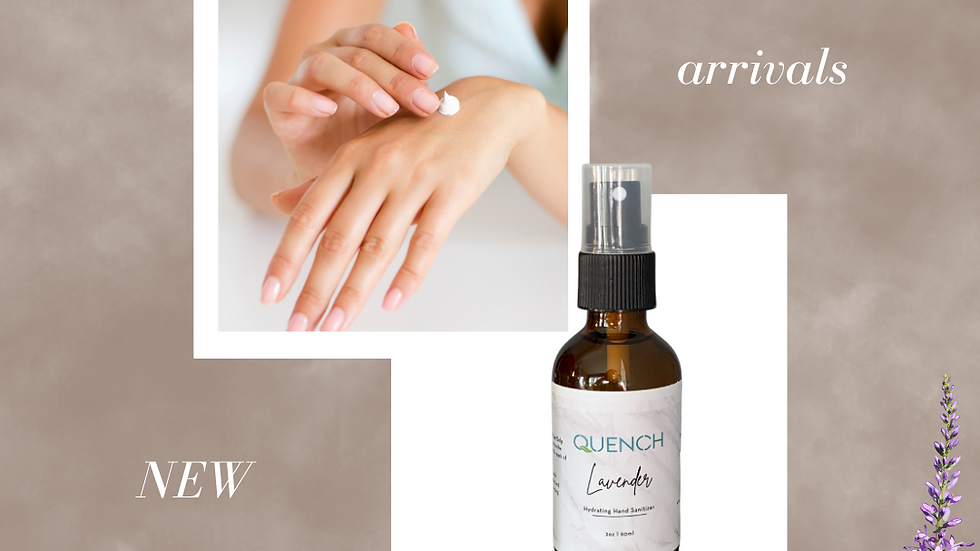 Quench Hydrating Hand Sanitizer Spray (Lavender)