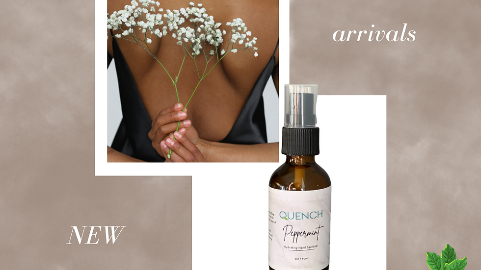 Quench Hydrating Hand Sanitizer Spray (Peppermint)