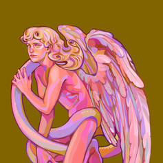 Angel with Snake