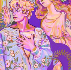 Caesar Zeppeli and Minerva