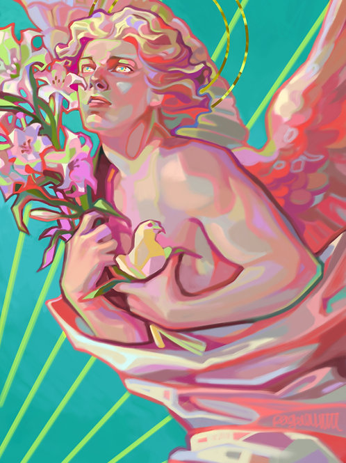 Angel with Lilies