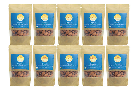 2oz Organic Nonpareil Almonds (10 Pack)