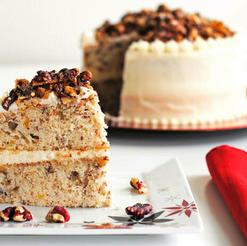 Red Walnut Praline Cake