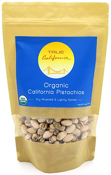 Organic California Pistachios, Dry Roasted & Lightly Sea Salted