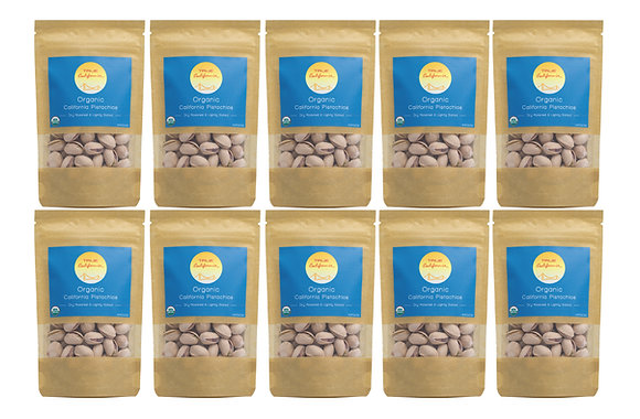 2oz Organic California Pistachios, Dry Roasted & Lightly Sea Salted (10 Pack)