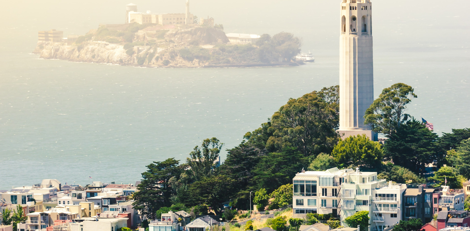 San Francisco Coit Tower & Alcatraz