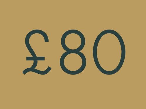 £80 Gift voucher