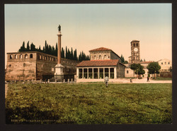 19th-century-polychrome-print.San-Lorenzo.Pre-war-damage