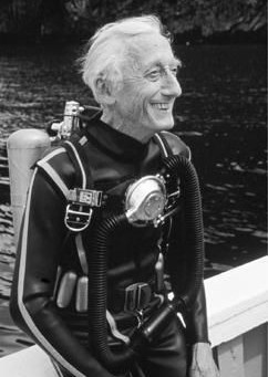 Jacques Cousteau the French Diver