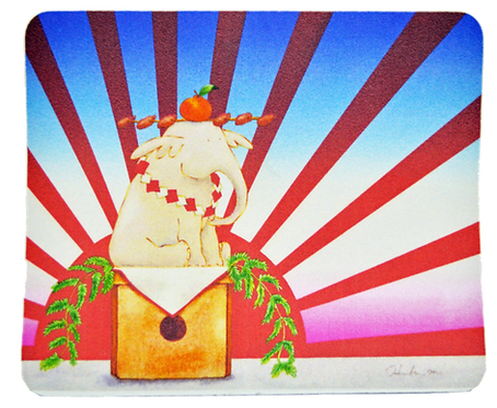 マウスパッド【謹賀新年-白-】