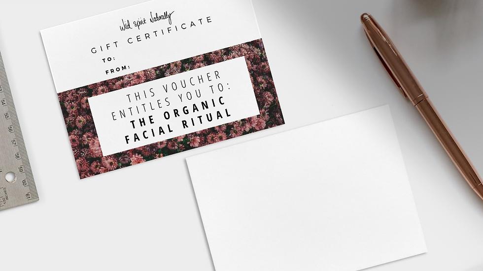 Organic Facial Ritual Gift Voucher
