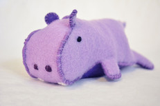 Handmade Felt Hippo