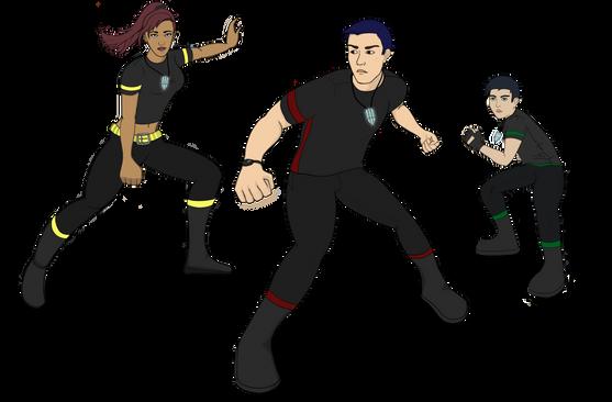 Warriors of Zacarra group render