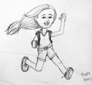 RunningGirl Sketch