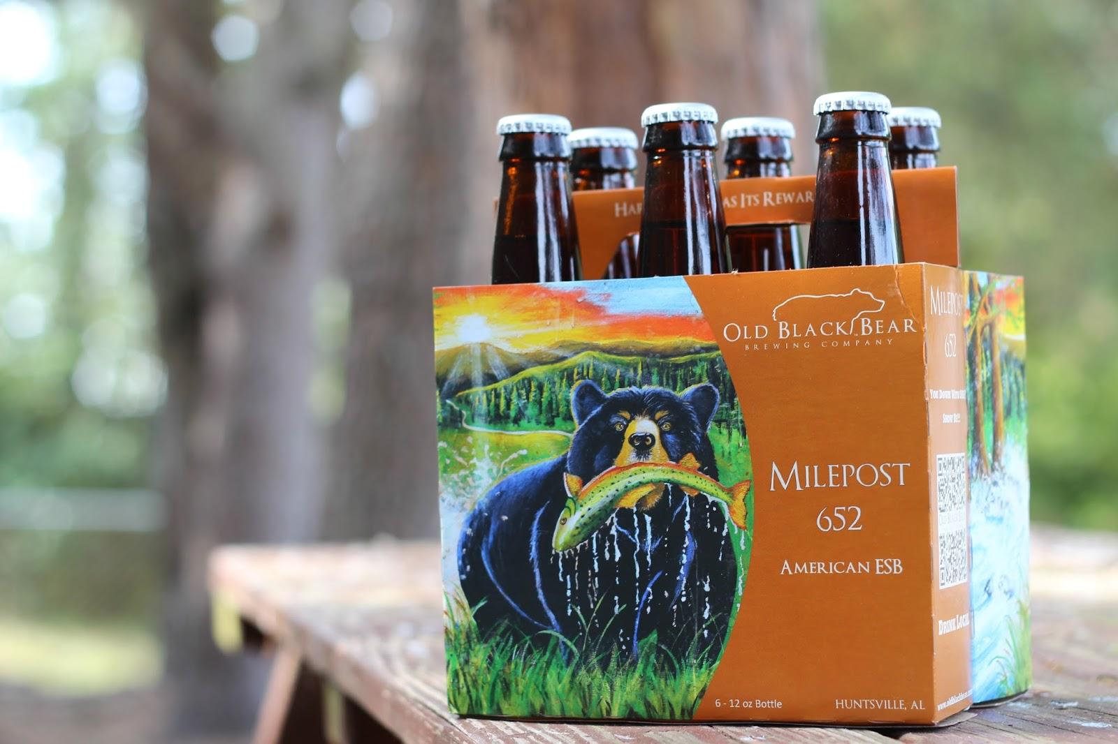 Old Black Bear 6 pack art