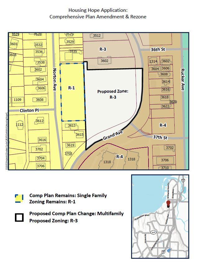 Comprehensive Plan Amendment and Rezone.