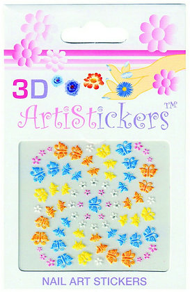 3D Nail Art Stickers - Butterfly.02