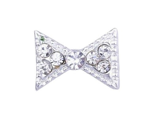 Ritzy Diamante Bow Tie Nail Art Gem