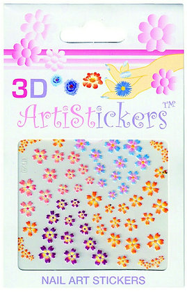 3D Nail Art Stickers - Flowers.06