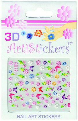 3D Nail Art Stickers - Flowers.02