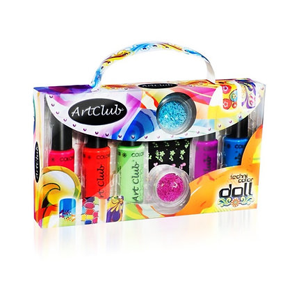 Art Club 'TECHNI-COLOR DOLL' Nail Art Set
