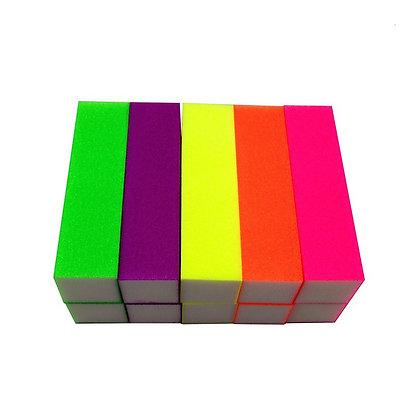 10-Pack Neon Buffing Blocks (various grits)