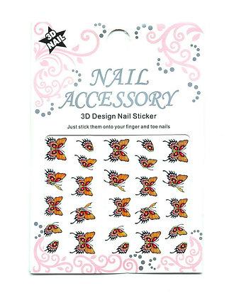 3D Foil Nail Art Stickers - Butterflies