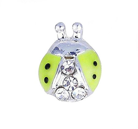 Lime Green Ladybird With Gems