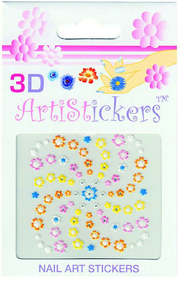3D Nail Art Stickers - Flowers.04