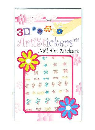 3D Nail Art Stickers - Bows & Bells