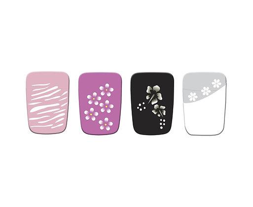 32pcs Designer Toe Nail Tips