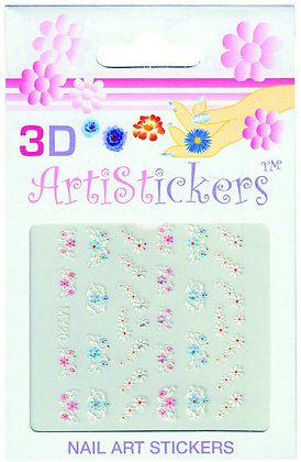 3D Nail Art Stickers - Flowers.03