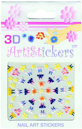 3D Nail Art Stickers - Butterfly.01