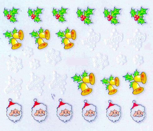 Christmas 3D  Nail Foil Nail Art Stickers.02